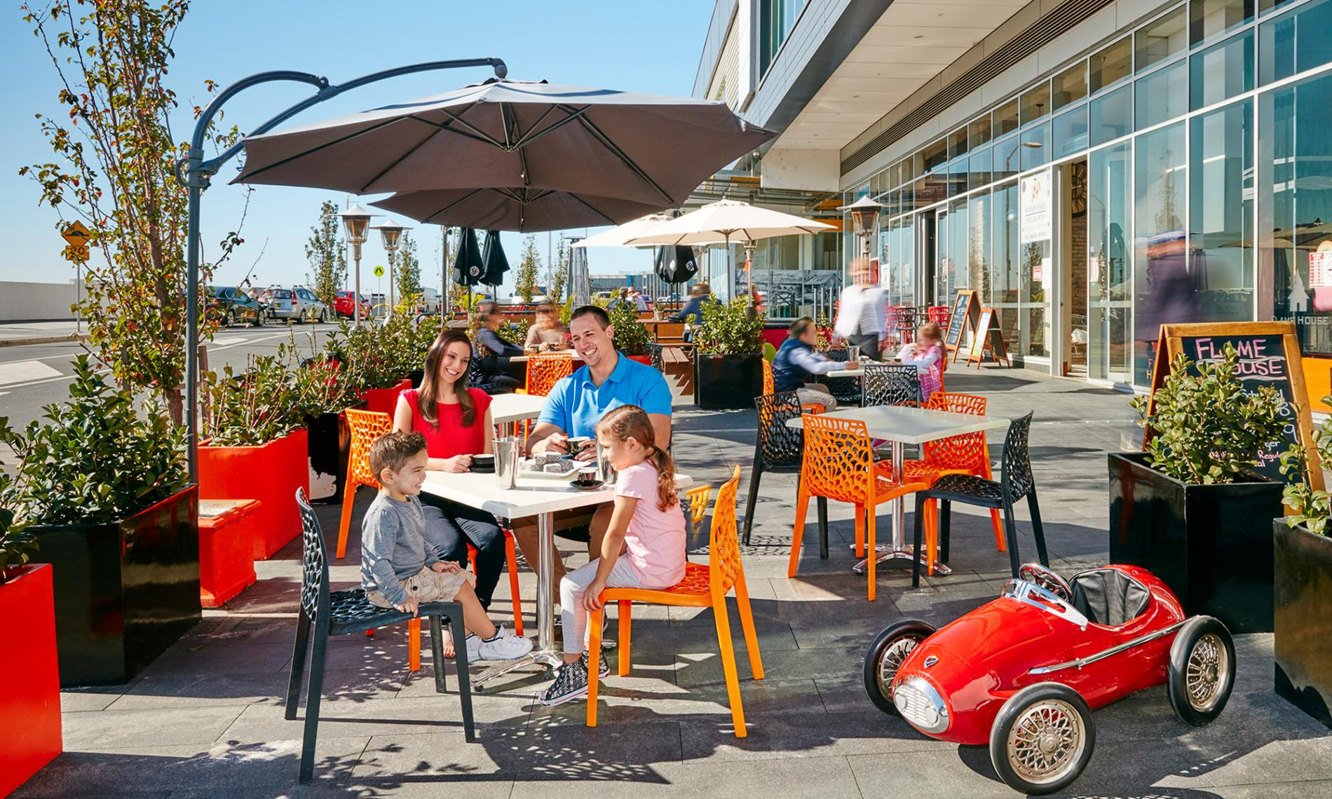 Why Oran Park Town Centre cafes dining feature